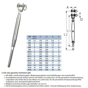 Wantenspanner gabel-terminal
