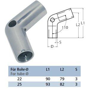 Relingverbinder 110°