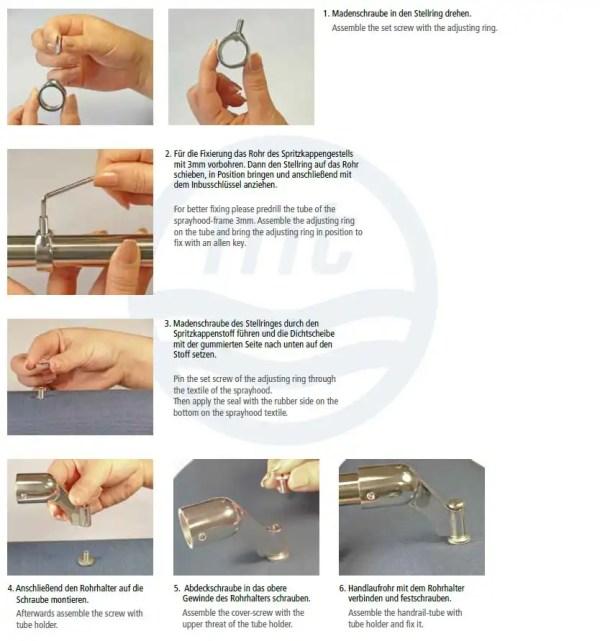 Spritzkappenhandlaufhalter Set Anleitung
