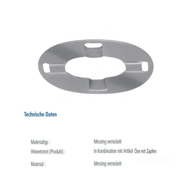 Dot Common Sense® Persenning Drehverschluss Gegenplatte schwere Ausführung