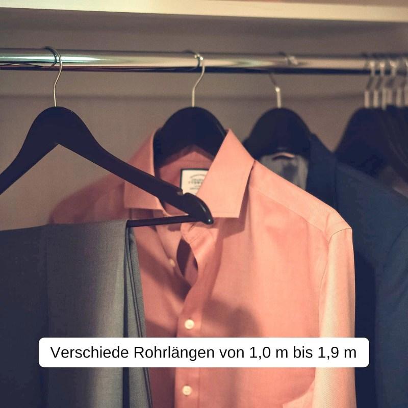 Beispiel Kleiderstange im Schrank