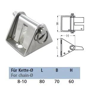 Edelstahl Kettenstopper für 8-10 mm Ankerketten