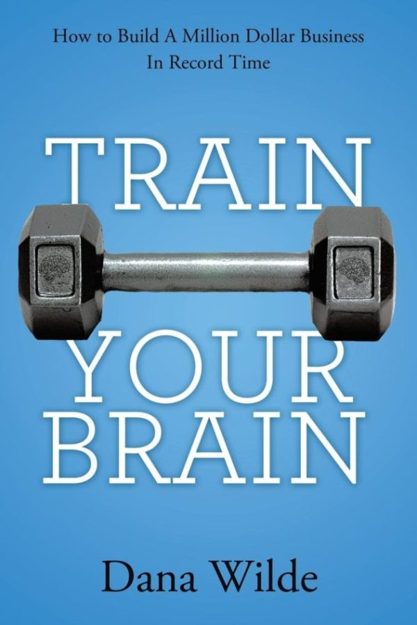 Book Cover Blue Background with White Writing, Train Your Brain