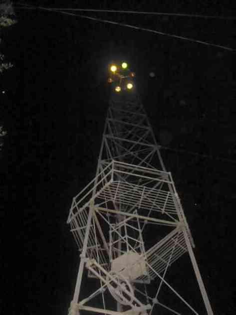 Moonlight Tower at night