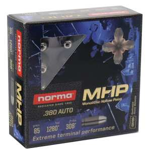.380 ACP | Norma - MHP - 85 Grains - 20 Rounds