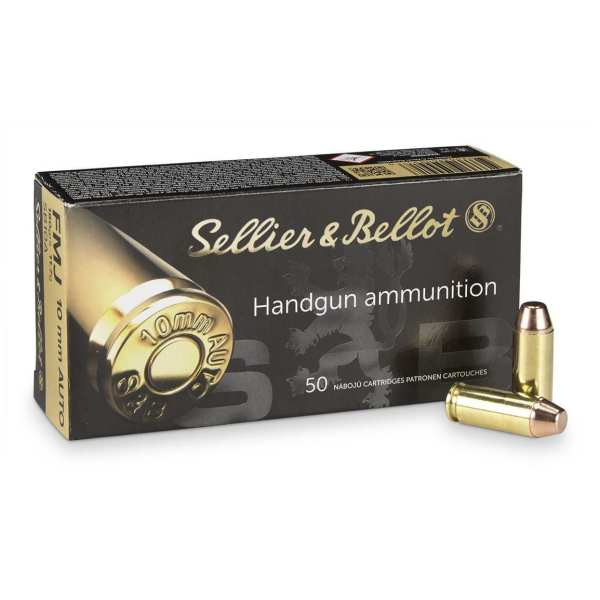 10mm Auto | Sellier & Bellot - FMJ - 180 Grains - 50 Rounds