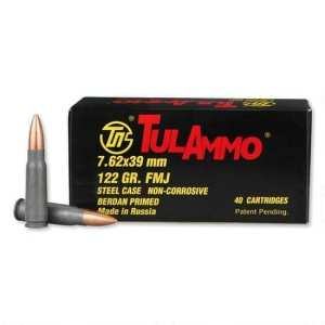 7.62x39 | Tula - FMJ Steel Cased - 122 Grains - 40 Rounds