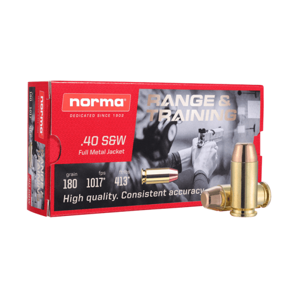 .40 S&W | Norma - FMJ - 180 Grains - 50 rounds