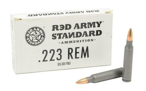 .223 | Century Red Army - FMJ Steel Cased - 55 Grains - 20 Rounds
