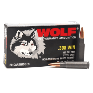 .308 Win (762x51) | Wolf - FMJ - 145 Grains - 500 Round Case (FREE SHIPPING)