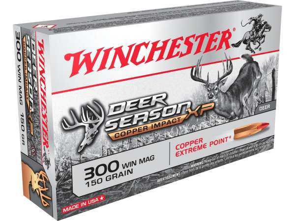Winchester 300 Win Mag Deer Season XP Copper Impact 150 Grain Extreme Point 20 rounds