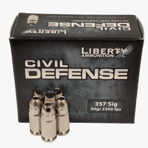 Liberty 357 SIG (NOT MAGNUM) Ammunition Civil Defense 50 Grain Fragmenting Lead Free Hollow Point 20 Rounds