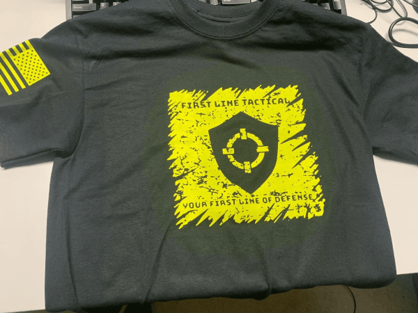 First Line Tactical - Size Small T-Shirt (ORIGINAL PRODUCTION / SHIPS FREE)