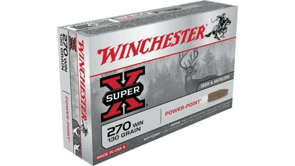 Winchester 270 Win Super-X 130 gr Power-Point 20 rounds