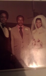 (L-R) Dad, Pastor McAfee, Mom 3/6/1976