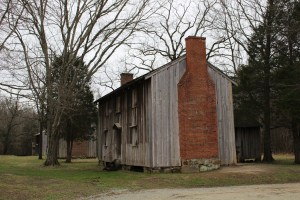 Slave Dwellings would house 4 families (5-7 people, one room per family) completed in the 1850s.