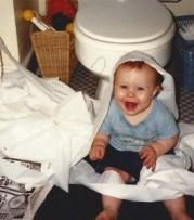 Sami in bathroom '90