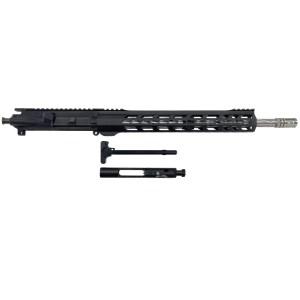 "AR-15 Complete Upper, 16"" SS Spiral Fluted Barrel, 15"" Keymod Handguard - Black"