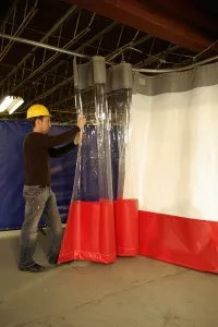 industrial curtains for workspace division
