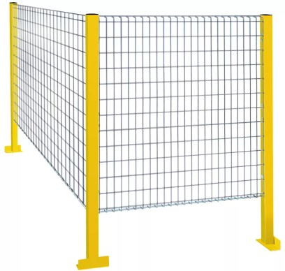 Steel Guard's Machine Shield™ Econo-Qwik Series used for machine perimeter guarding.
