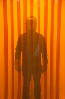 Welding Strip Curtains with Orange Weld-View Strips