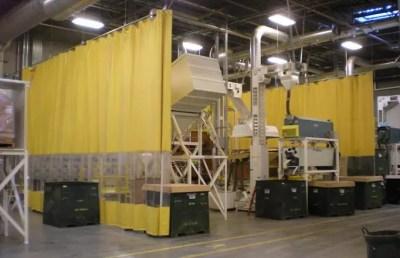 Vinyl curtain walls can endure impacts