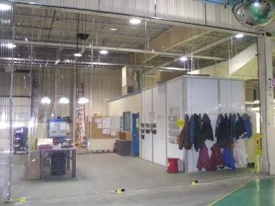 Safety curtains for a safer work environment.