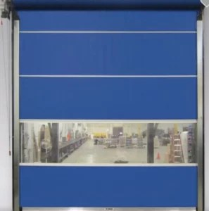 Vinyl Roll Up Door with Manual Chain Hoist System
