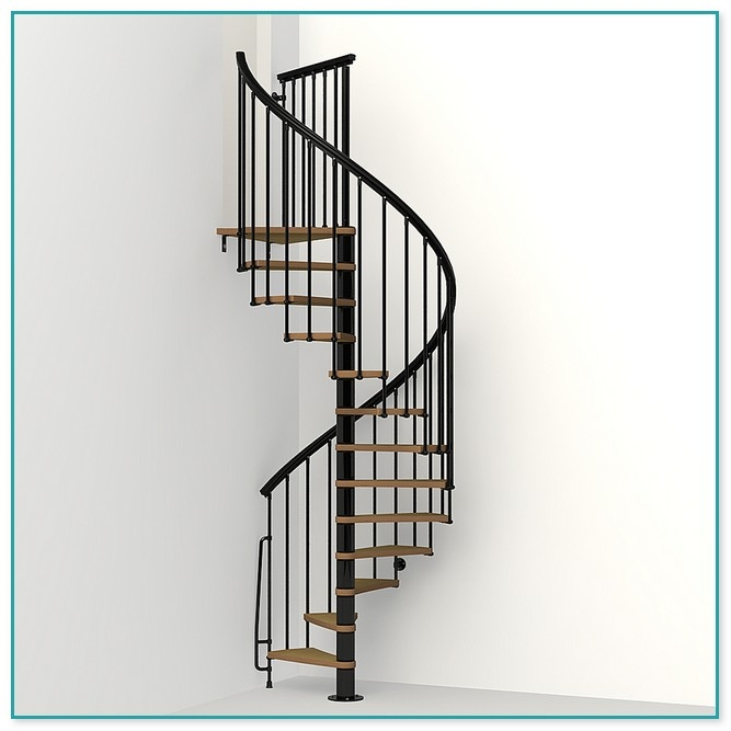 Two Story Spiral Staircase | Installing A Spiral Staircase | 10 Foot | Glass | Drawing | Interior | Staircase 2