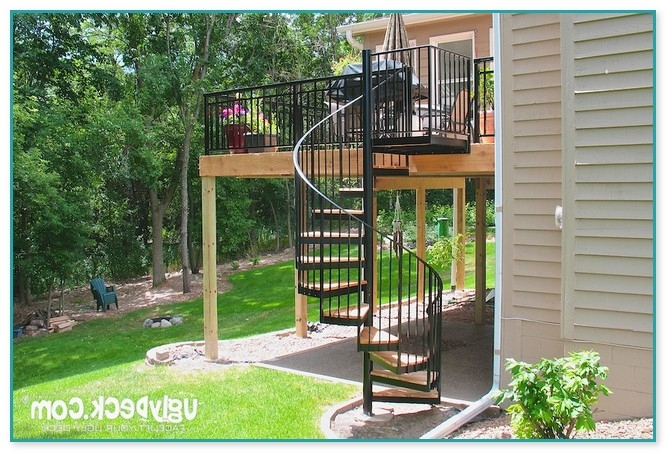 Spiral Staircase For Outdoor Deck | Outdoor Spiral Staircase For Deck | 36 Inch Diameter | Small Footprint | Steel | Balcony Outdoor | 2 Story
