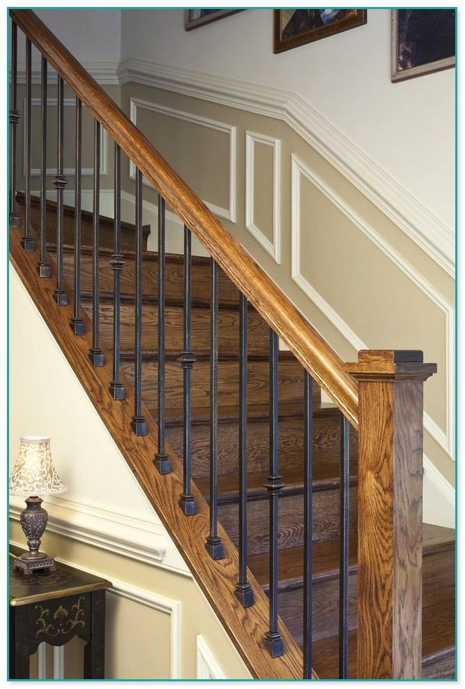 Cast Iron Stair Spindles For Sale | Wrought Iron Staircase Spindles | Basement Stair | Rot Iron | Outdoor | Wooden French Country Newel Post | Foyer