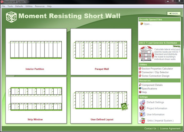 Short Wall - Cold Formed Steel Design Software & Training
