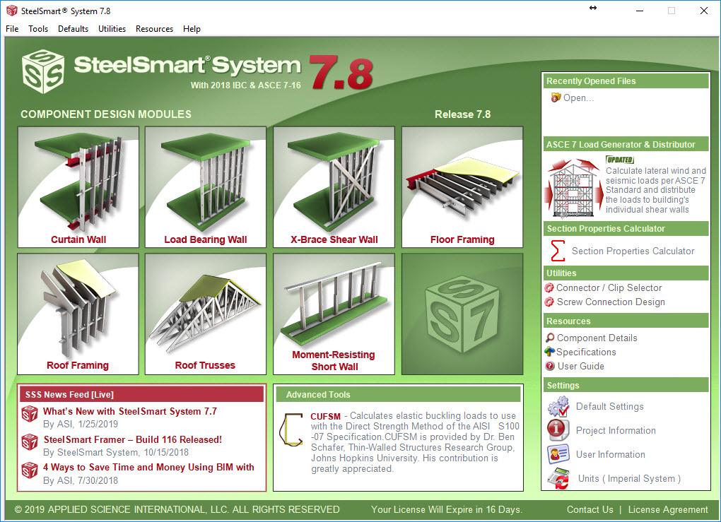 SteelSmart System-7.8: Steel Framing Design Software