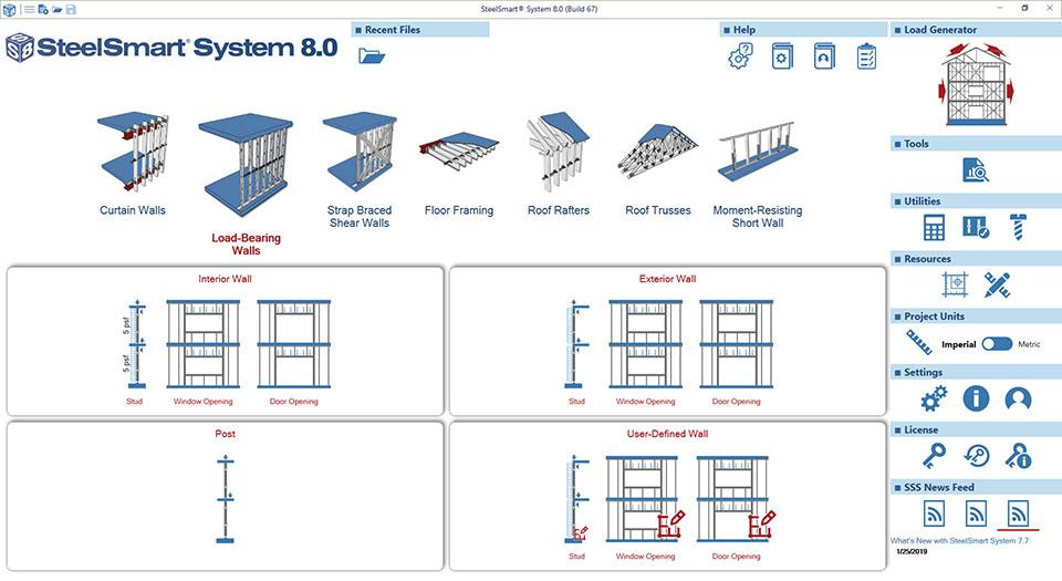 Cold-formed Steel Loadbearing Wall Design Software Module