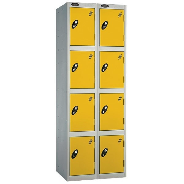 Probe steel locker nest of 2-4 door yellow_