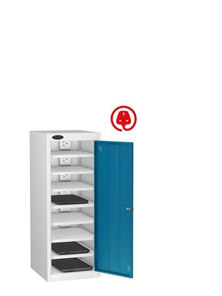 Probe 1 door steel blue lapbox charging locker