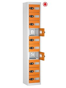 probe steel 10 doors orange tabbox charging locker