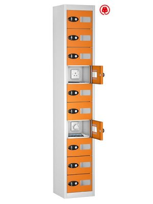 probe steel 10 doors orange tabbox charging locker