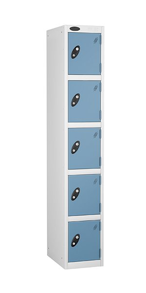 probe 5 doors steel locker blue