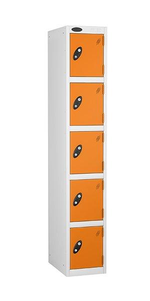 probe 5 doors steel locker orange