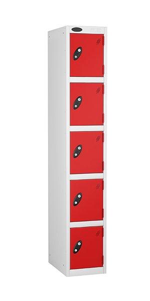 probe 5 doors steel locker red