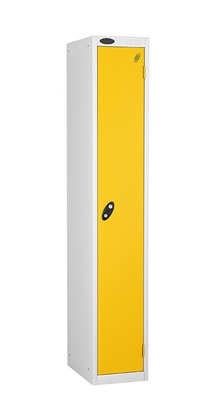 probe 1 door steel locker yellow door
