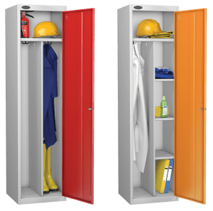 probe clean environment steel workwear lockers | PPE lockers | staff steel lockers