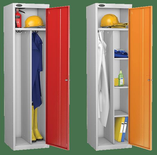 probe clean environment steel workwear lockers | PPE lockers | staff steel lockers