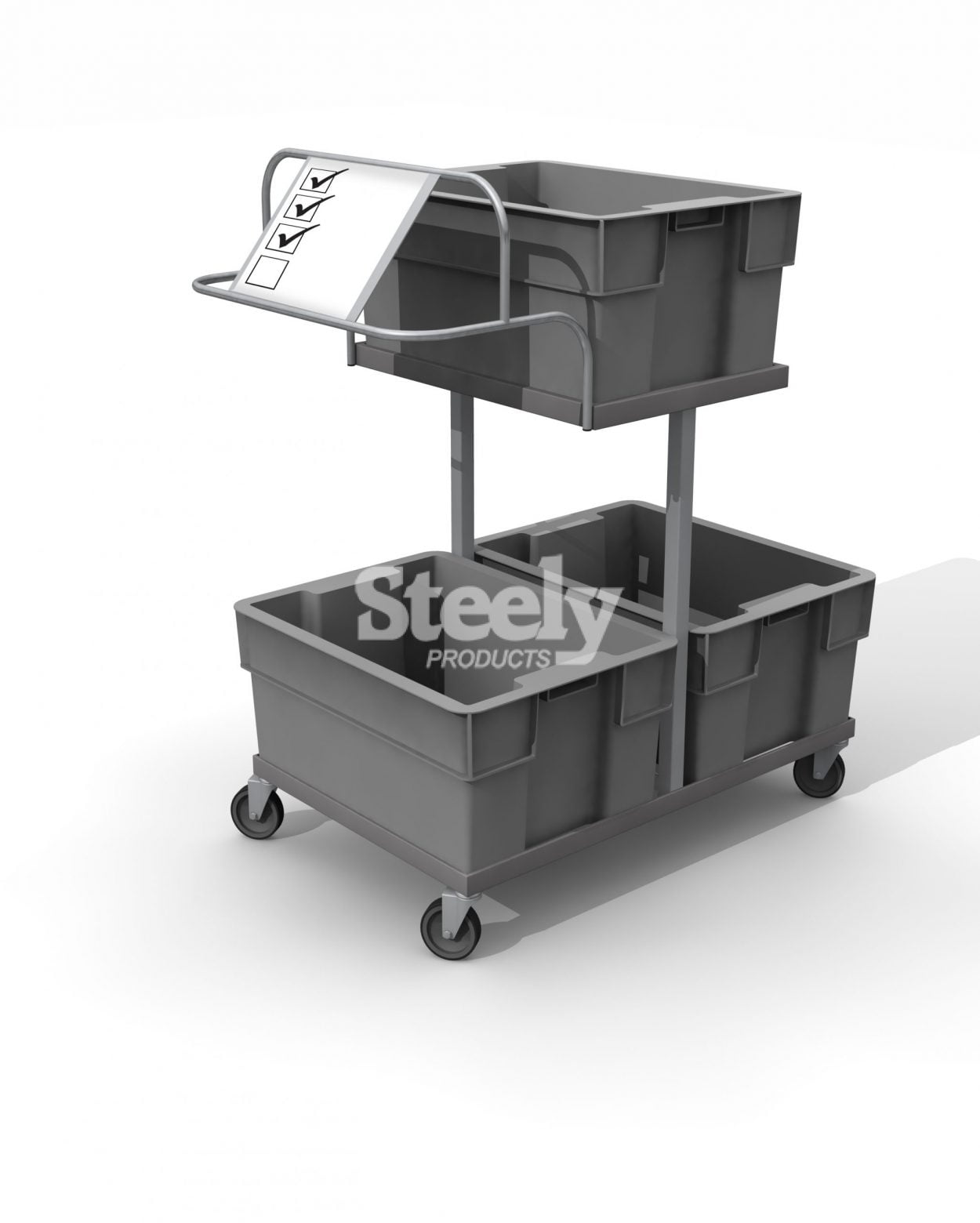 3 Tote Picking Trolley
