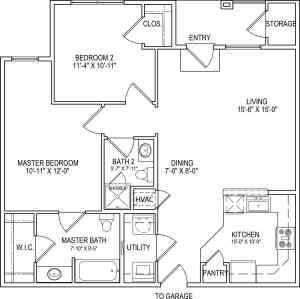 2 Bed / 2 Bath / 983 sq ft