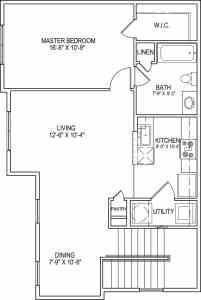 1 Bed / 1 Bath / 909 sq ft