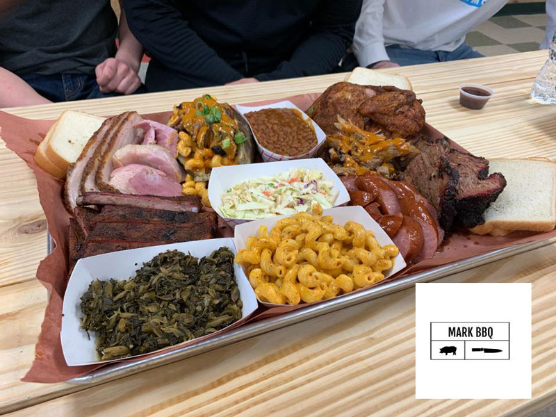 Mark BBQ food