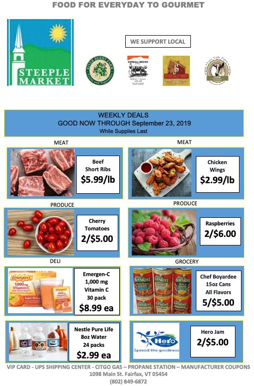 steeple market weekly deals