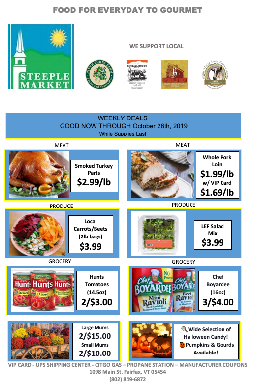 steeple market weekly deals sales flyer